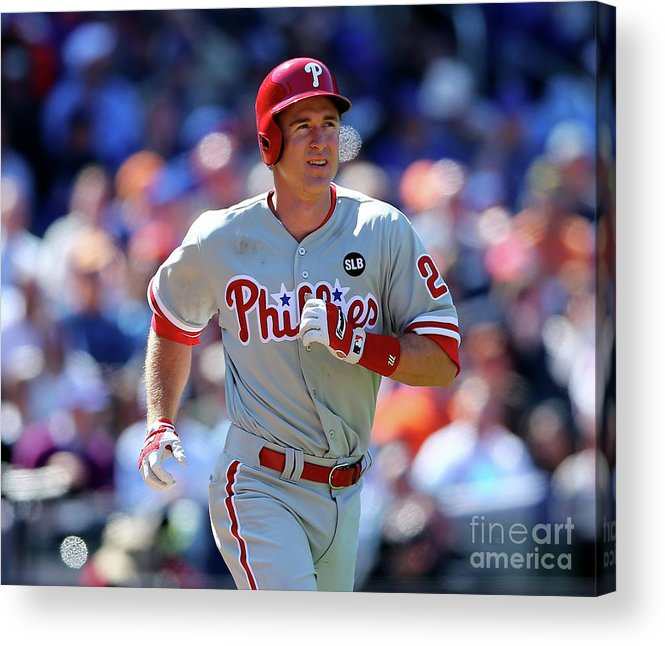 Three Quarter Length Acrylic Print featuring the photograph Chase Utley by Elsa