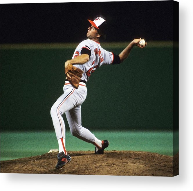 1980-1989 Acrylic Print featuring the photograph Jim Palmer by Ronald C. Modra/sports Imagery