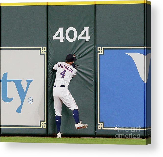 People Acrylic Print featuring the photograph Khris Davis and George Springer by Bob Levey