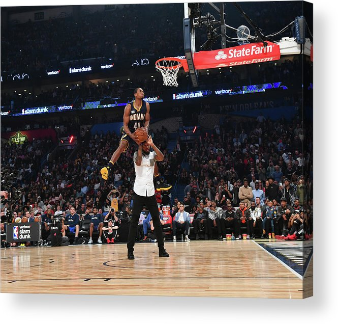 Event Acrylic Print featuring the photograph Paul George and Glenn Robinson by Jesse D. Garrabrant