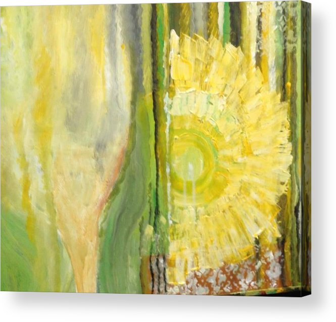 Yellow Acrylic Print featuring the painting Wine or Nature by Carol P Kingsley