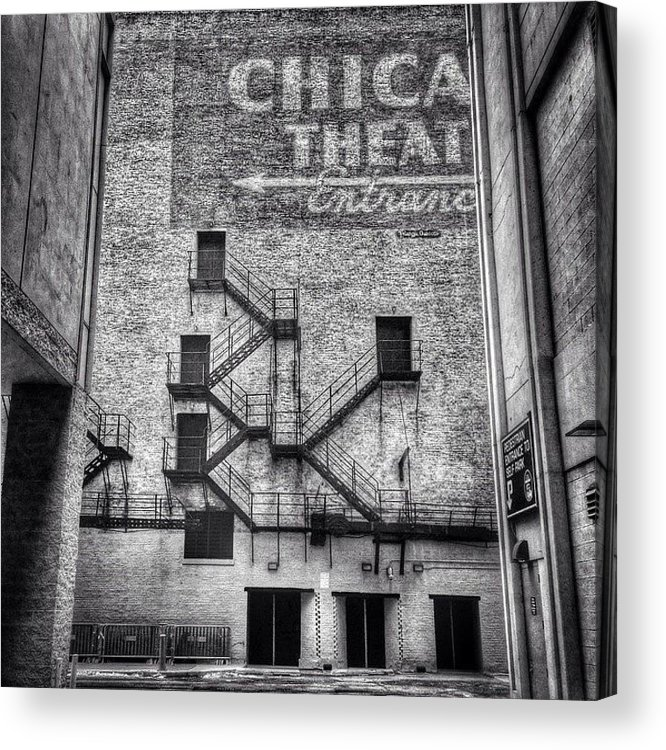Alley Acrylic Print featuring the photograph Chicago Theatre Alley Entrance Photo by Paul Velgos