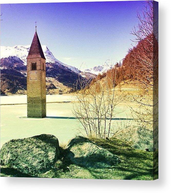 Beautiful Acrylic Print featuring the photograph Lago Di Resia - Alto Adige by Luisa Azzolini