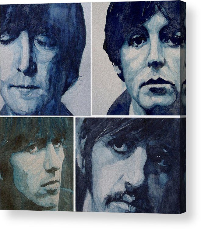 The Beatles Acrylic Print featuring the painting Come Together by Paul Lovering