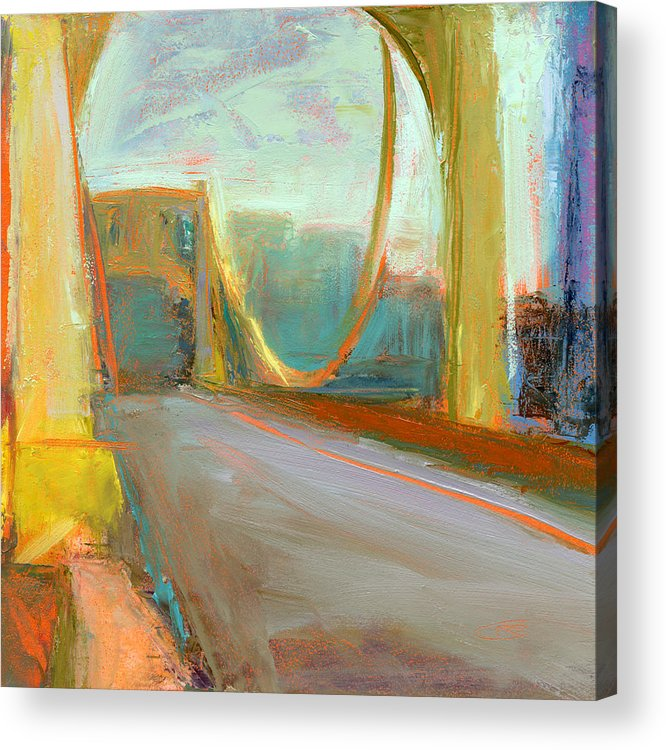 Bridges Acrylic Print featuring the painting Untitled 608 by Chris N Rohrbach