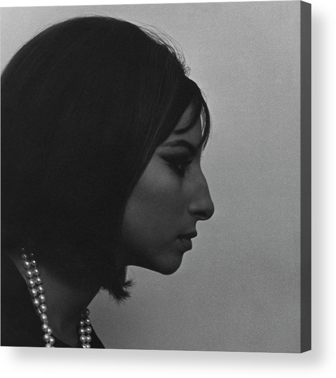 Music Acrylic Print featuring the photograph A Side View Of Barbra Streisand by Cecil Beaton