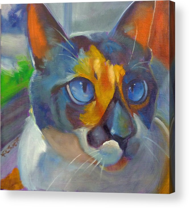 Animal Acrylic Print featuring the painting Alley by Kaytee Esser