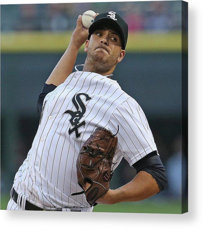 American League Baseball Acrylic Print featuring the photograph Arizona Diamondbacks V Chicago White Sox by Jonathan Daniel