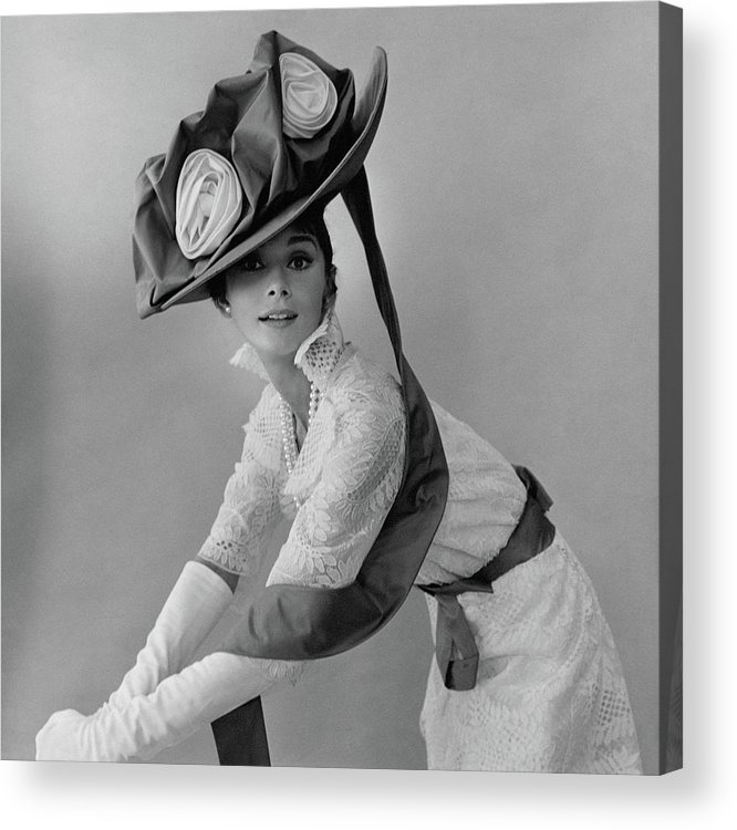 Actress Acrylic Print featuring the photograph Audrey Hepburn In Costume For My Fair Lady by Cecil Beaton