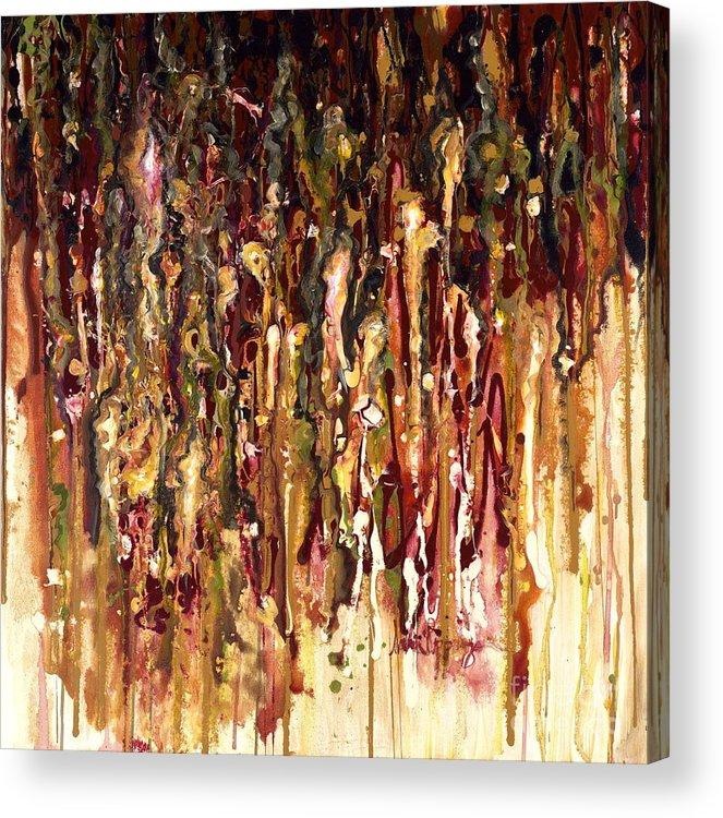 Rain Acrylic Print featuring the painting Autumn Rains by Nadine Rippelmeyer