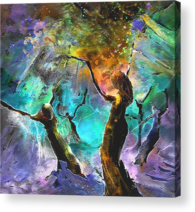Miki Acrylic Print featuring the painting Celebration of Life by Miki De Goodaboom