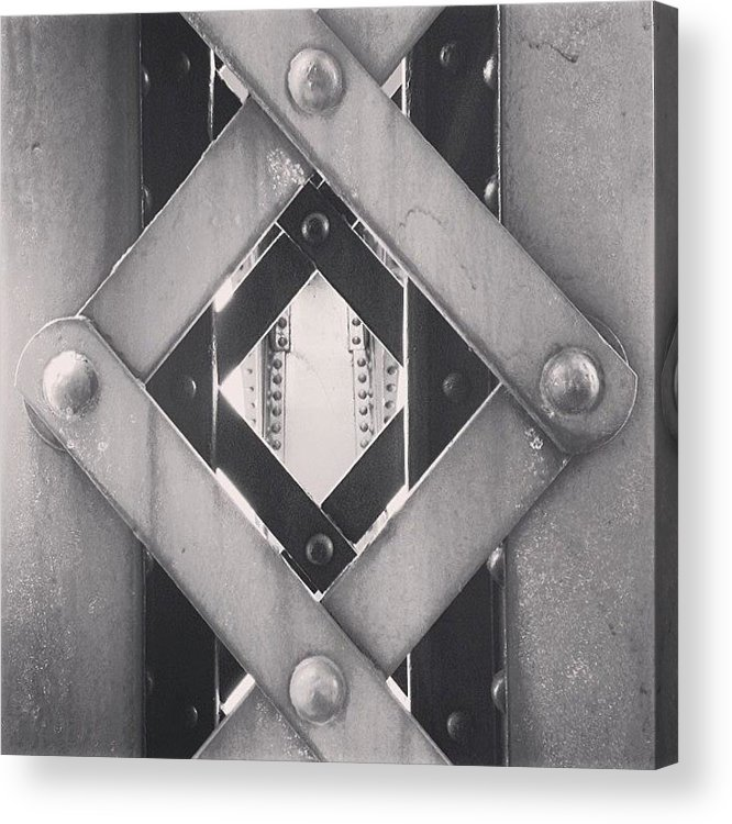 America Acrylic Print featuring the photograph Chicago Bridge Iron Close-Up Picture by Paul Velgos