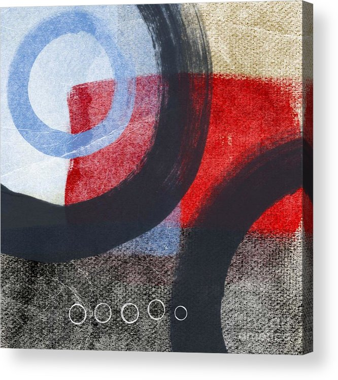 Circles Acrylic Print featuring the painting Circles 1 by Linda Woods