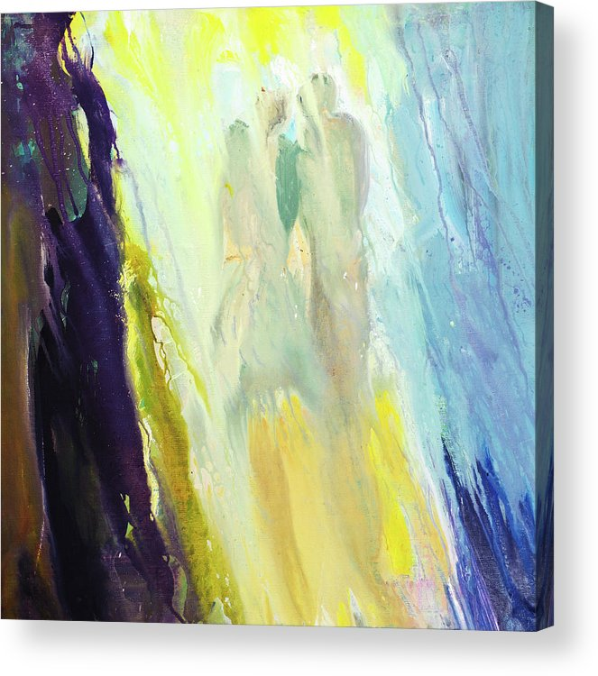 Art Acrylic Print featuring the digital art Couple by Balticboy