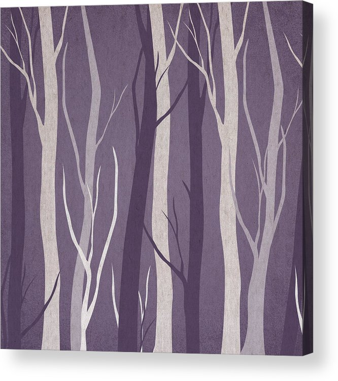 Contemporary Art Acrylic Print featuring the digital art Dark Forest by Aged Pixel