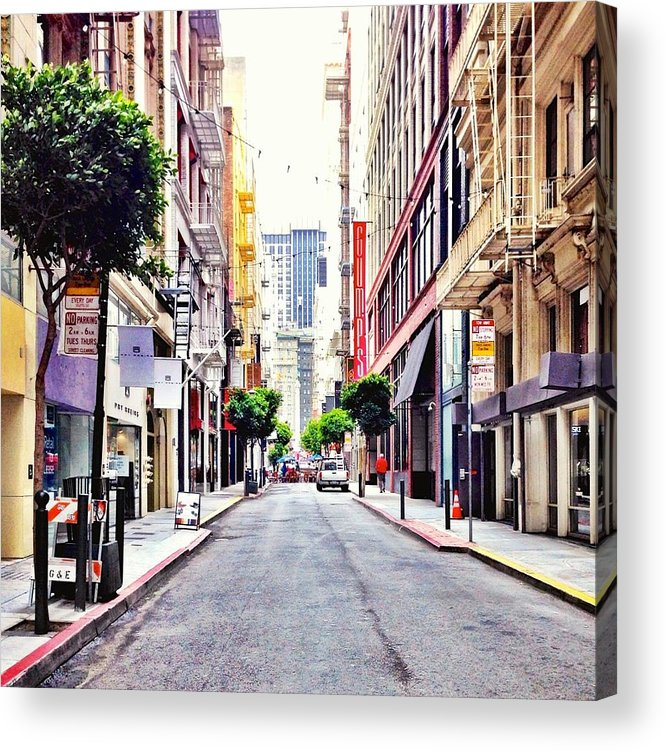 Street Scene Acrylic Print featuring the photograph Downtown by Julie Gebhardt