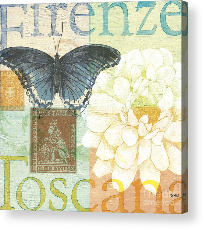 Firenze Acrylic Print featuring the painting Firenze by Debbie DeWitt