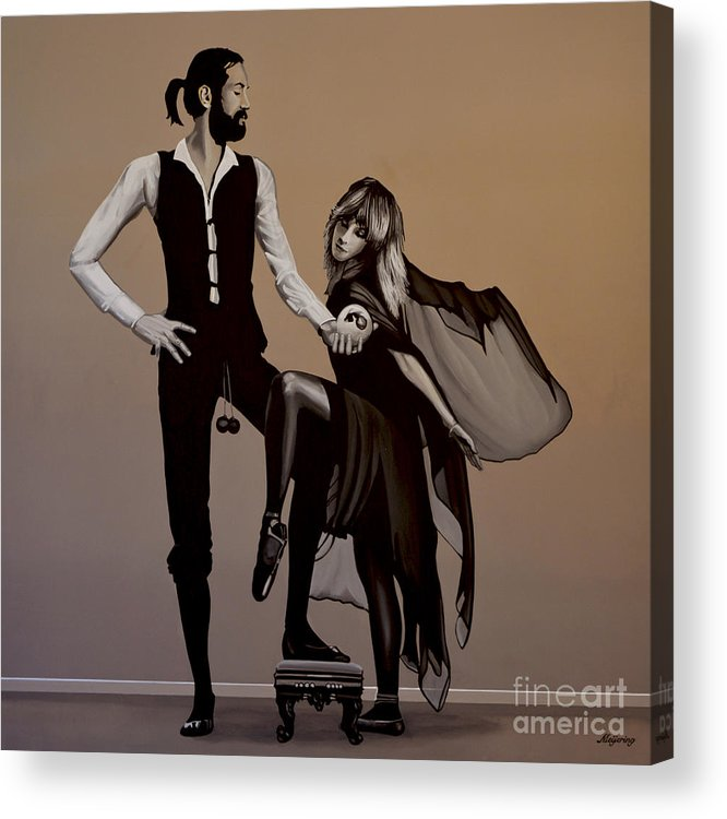 Fleetwood Mac Acrylic Print featuring the painting Fleetwood Mac Rumours by Paul Meijering