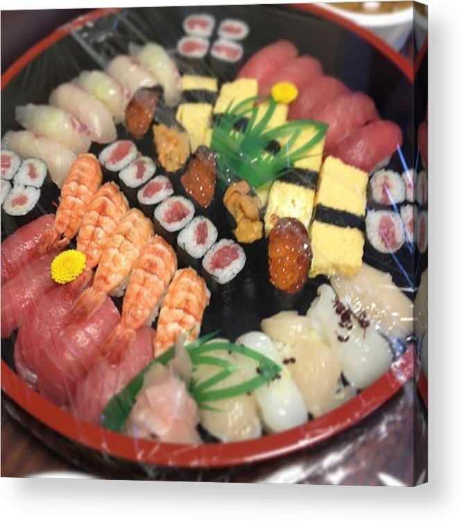 Food Acrylic Print featuring the photograph #food#sushi by Tokyo Sanpopo