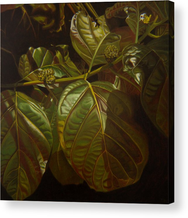 Tropical Plants Acrylic Print featuring the painting Forbidden Fruits by Thu Nguyen