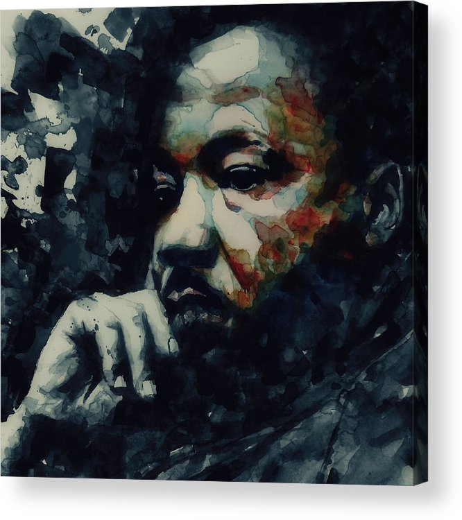 Martin Luther King Jr Acrylic Print featuring the painting Martin Luther King -Forgiveness Is Not An Occasional Act It Is A Constant Attitude by Paul Lovering