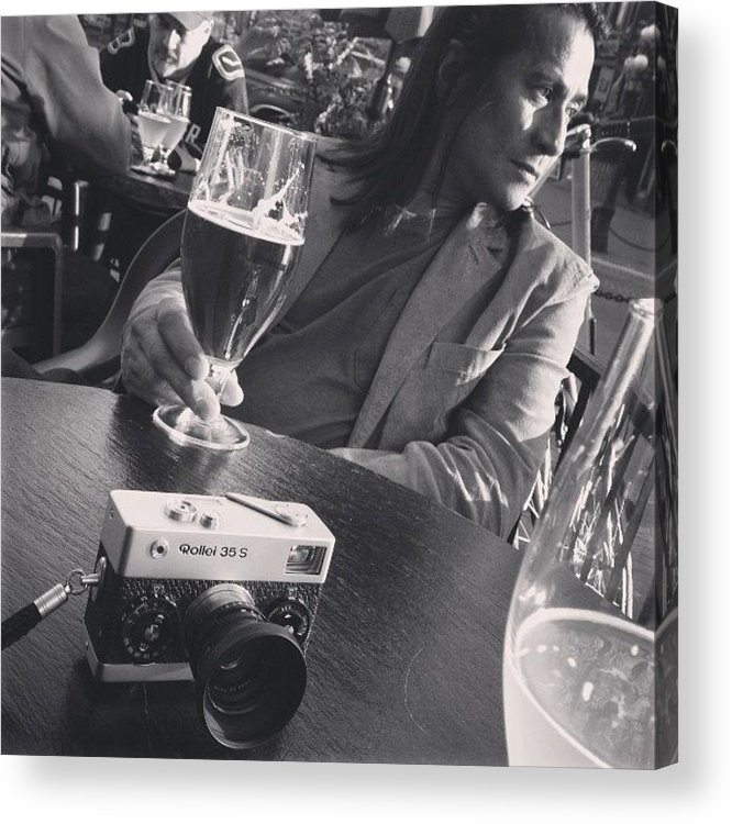 Gastown Acrylic Print featuring the photograph #gastown #beers #blackandwhitefilm by Tonino Guzzo