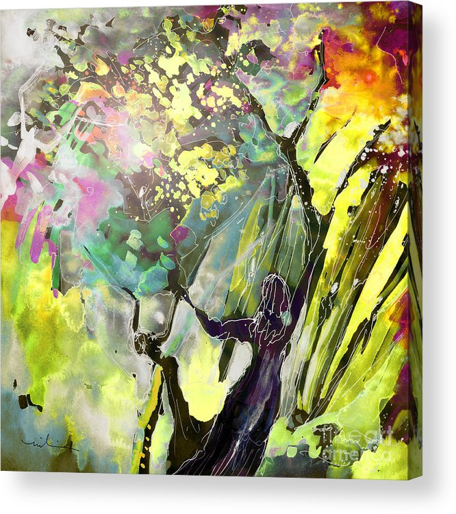 Fantasy Acrylic Print featuring the painting Grace under Pressure by Miki De Goodaboom