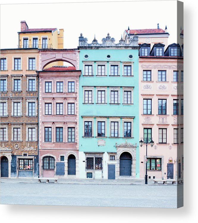 Apartment Acrylic Print featuring the photograph Houses On Old Town Market Place by Jorg Greuel