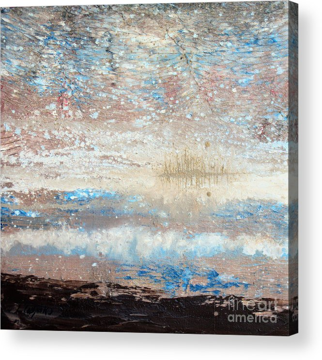 Subtle Acrylic Print featuring the painting Island Retreat by Laura Tasheiko