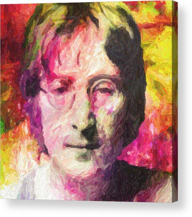 John Lennon Acrylic Print featuring the painting John Lennon by Zapista OU