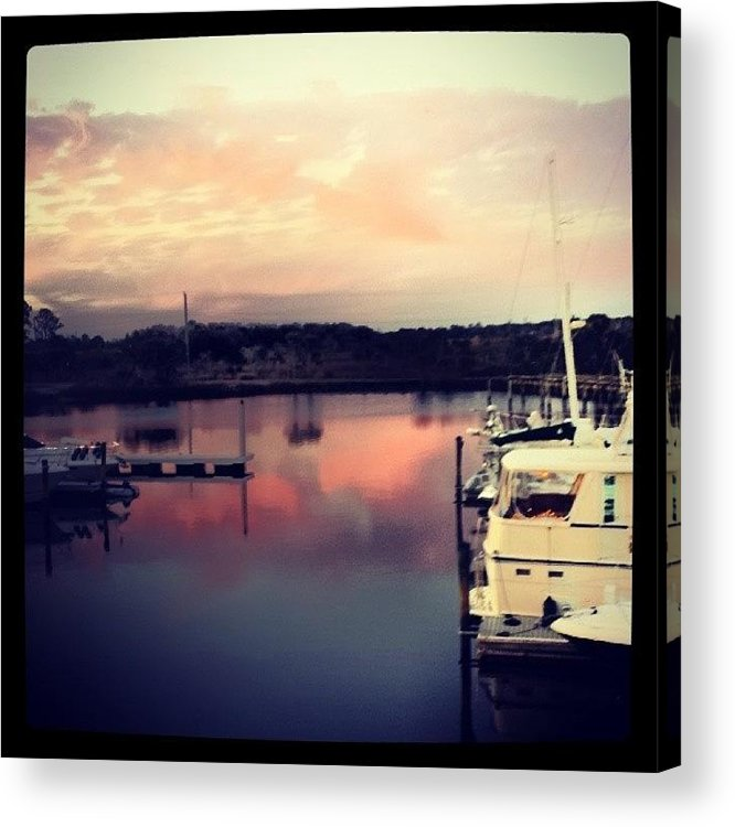 Beautiful Acrylic Print featuring the photograph Last Nights Dinner View #beautiful by Colleen Morrison