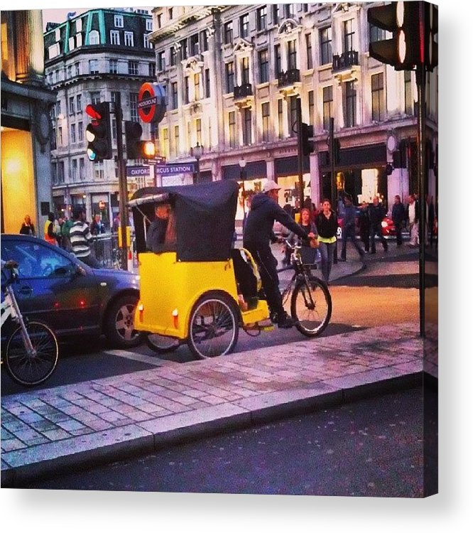 Buildings Acrylic Print featuring the photograph #london #street #streetphoto #cars by Abdelrahman Alawwad