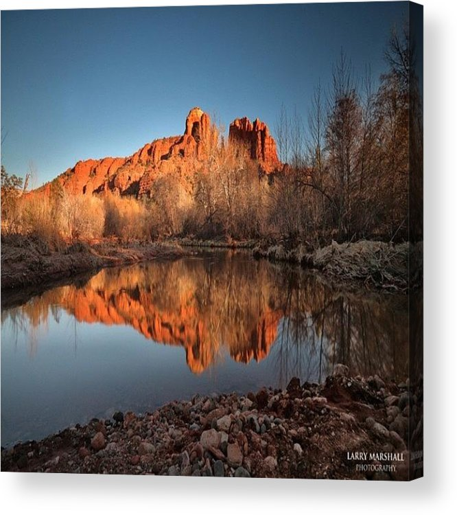 Acrylic Print featuring the photograph Long Exposure Photo Of Sedona by Larry Marshall
