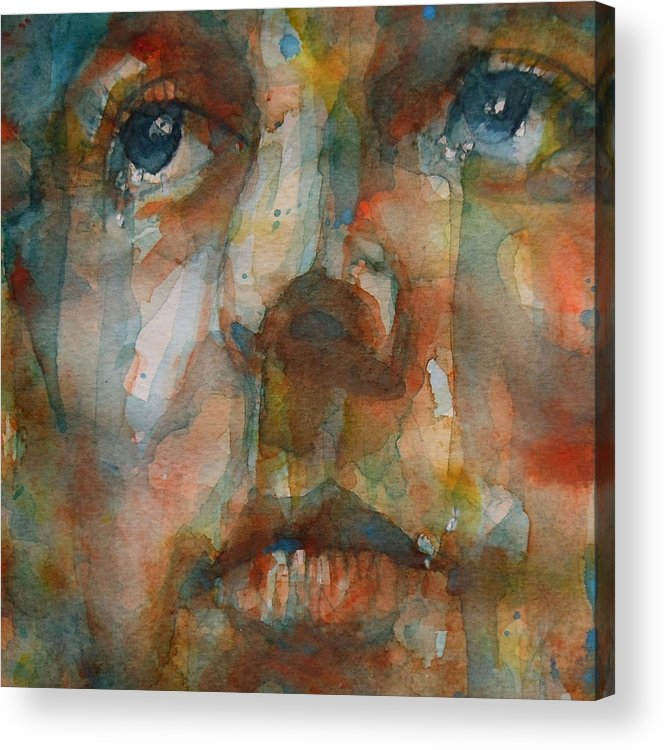 Paul Mccartney Acrylic Print featuring the painting Oh Darling by Paul Lovering