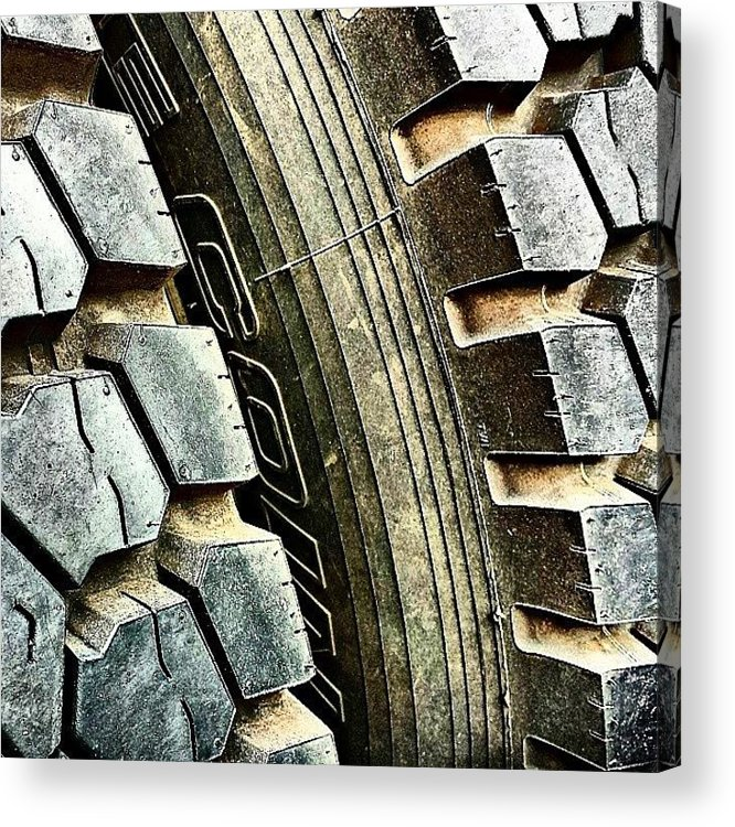 Flick Acrylic Print featuring the photograph Optimus Prime's Tyres. #movies by J Roustie