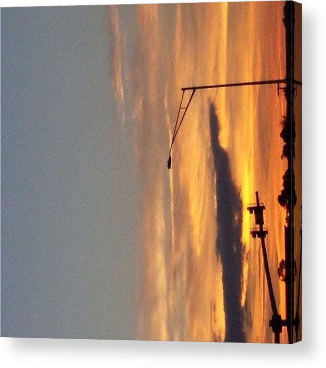 Educationtime Acrylic Print featuring the photograph Plus Side Of Being Up So by Colleen Morrison