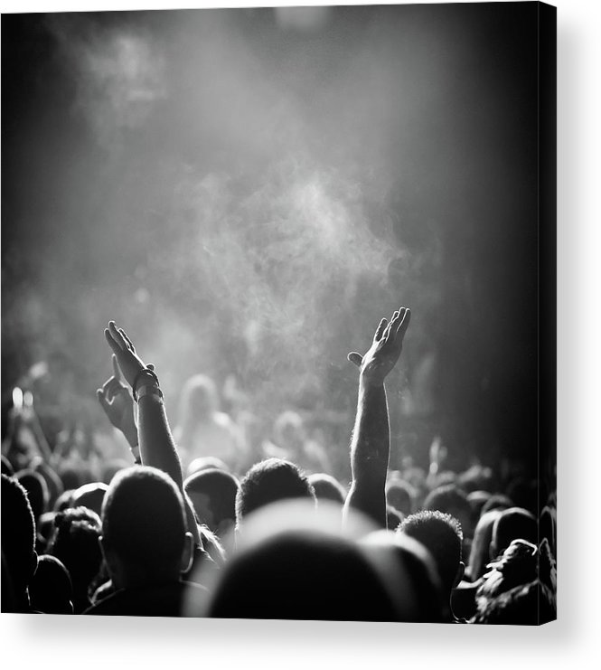 Rock Music Acrylic Print featuring the photograph Popular Music Concert by Alenpopov