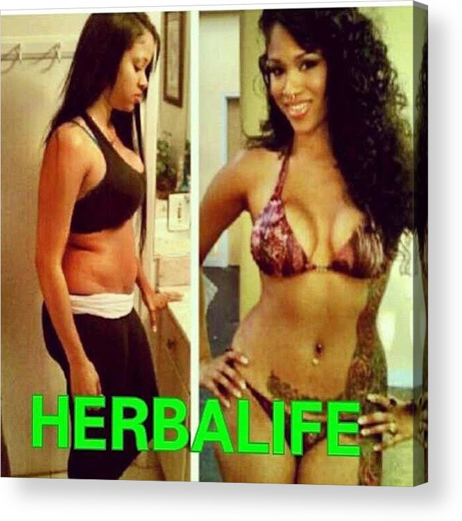 Results Herbalife Acrylic Print By Janea Coleman