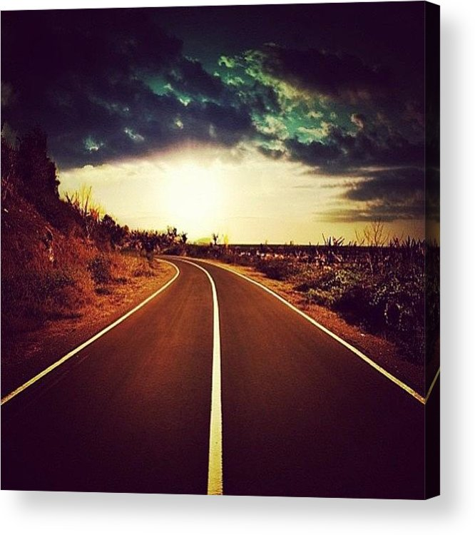 Acrylic Print featuring the photograph Run Away by Matheo Montes