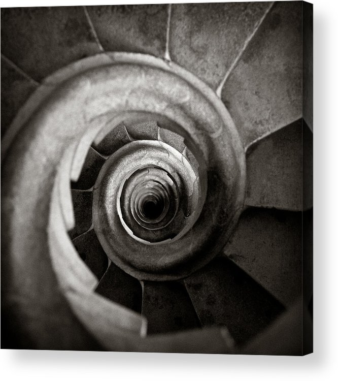 La Sagrada Familia Acrylic Print featuring the photograph Sagrada Familia Steps by Dave Bowman