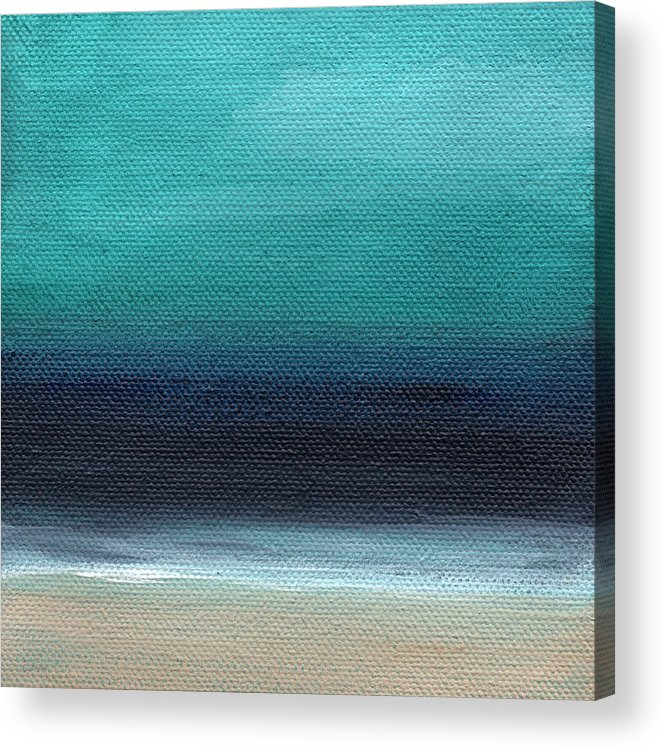 Beach Acrylic Print featuring the painting Serenity- Abstract Landscape by Linda Woods