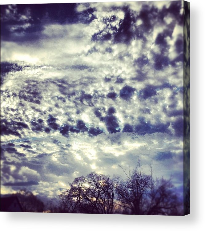 Clouds Acrylic Print featuring the photograph Sky by Christy Beckwith