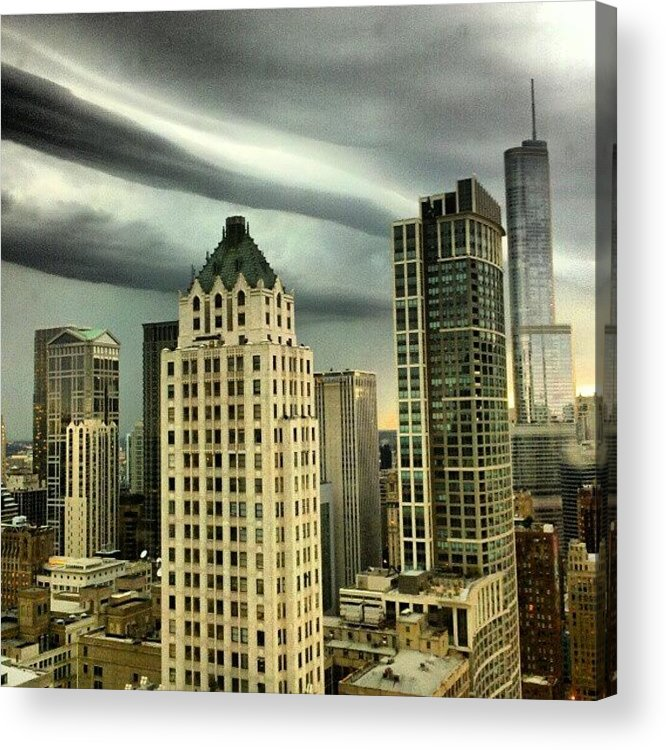 Acrylic Print featuring the photograph Storm Front by Jill Tuinier