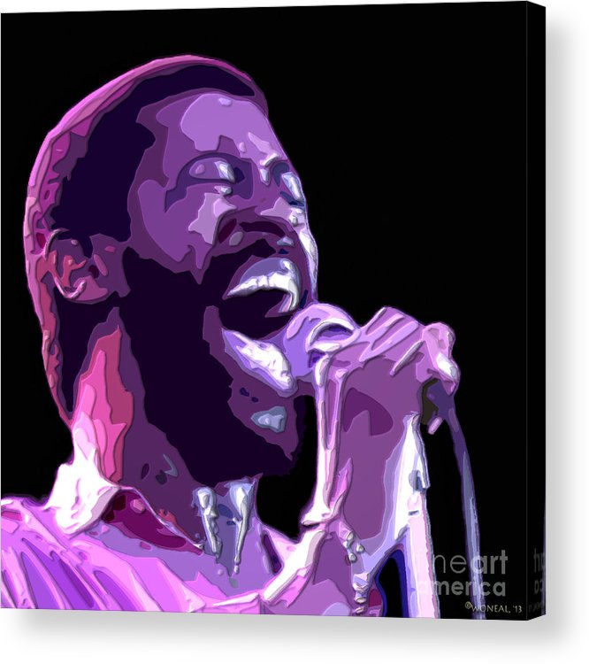 Faces Acrylic Print featuring the digital art Teddy Pendergrass by Walter Neal