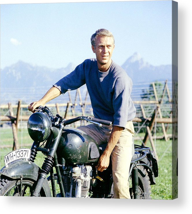Steve Mcqueen Acrylic Print featuring the digital art The Great Escape by Georgia Fowler