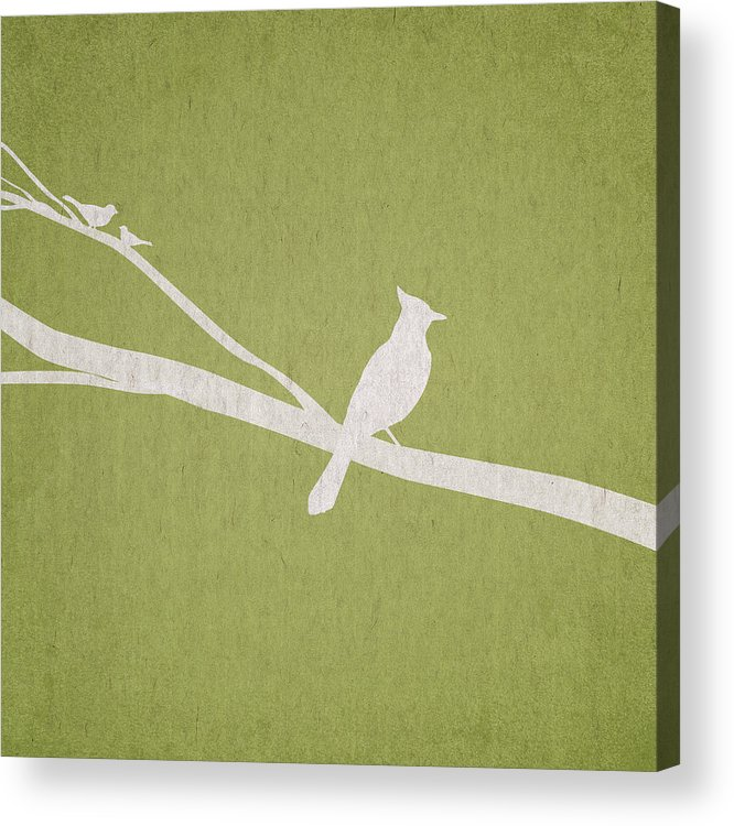Contemporary Art Acrylic Print featuring the digital art The Tree Branch by Aged Pixel