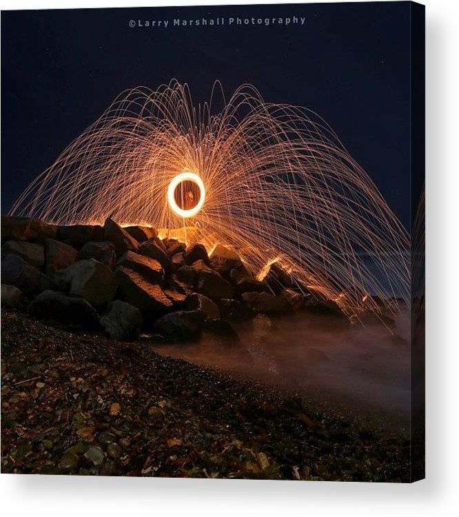 Acrylic Print featuring the photograph This Is A Shot Of Me Spinning Burning by Larry Marshall