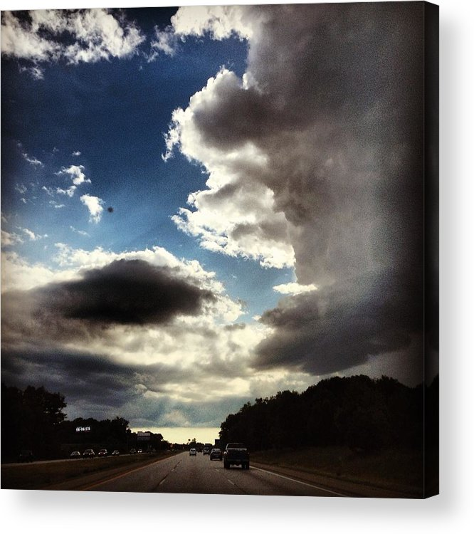 Landscape Acrylic Print featuring the photograph Thunder Clouds by Christy Beckwith