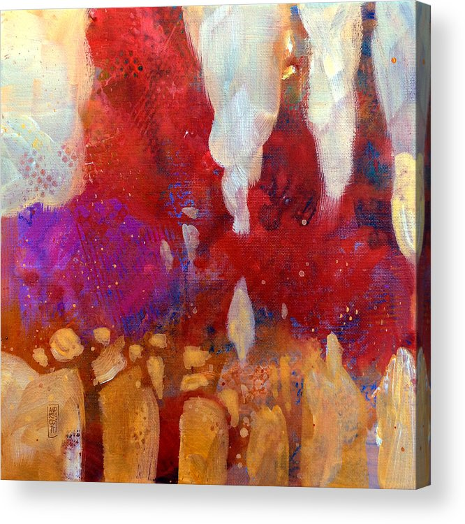 Red Acrylic Print featuring the painting Trees by Alessandro Andreuccetti
