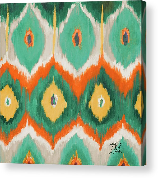 Tropical Acrylic Print featuring the painting Tropical Ikat II by Patricia Pinto